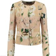 DOLCE & GABBANA Nude Floral LACE Jacket Blazer Made In Italy BNWT 38/6